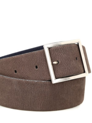 Orciani: belts online - Elasticated nubuck reversible belt
