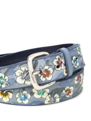 Orciani: belts online - Ibis embossed leather belt