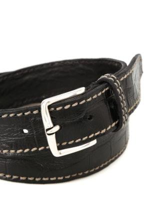 Orciani: belts online - Kenya printed leather black belt