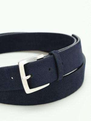 Orciani: belts online - Long Beach nubuck belt