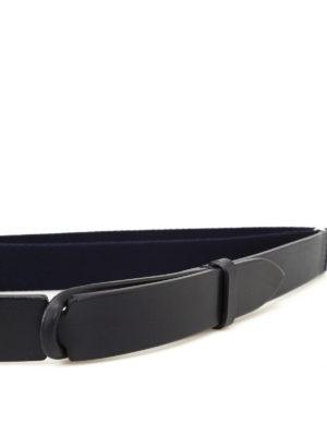 Orciani: belts online - Nobuckle blue belt