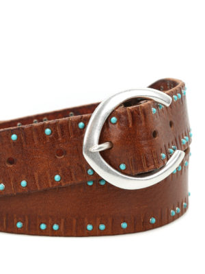 Orciani: belts online - Stain cabochon belt