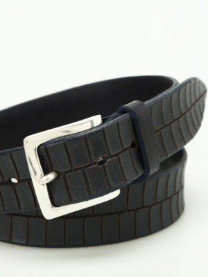 Orciani: belts online - Stain croco print leather belt