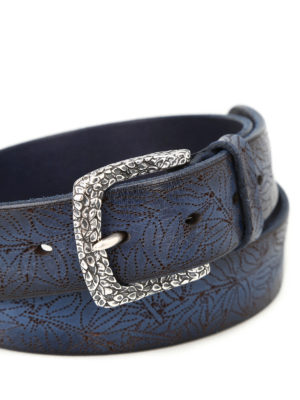 Orciani: belts online - Stain laser-cut painted belt