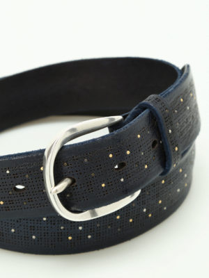 Orciani: belts online - Stain studded leather belt