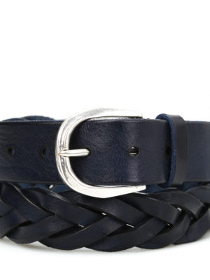 Orciani: belts online - Stain woven leather belt