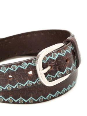 Orciani: belts online - Wax Color leather belt
