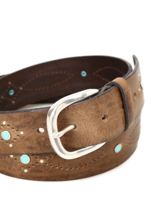 Orciani: belts online - Wax embellished leather belt