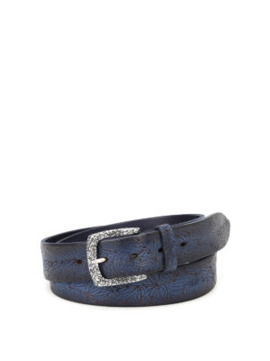 Orciani: belts - Stain laser-cut painted belt