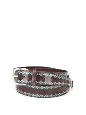 Orciani: belts - Wax Color leather belt