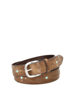 Orciani: belts - Wax embellished leather belt