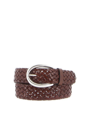 ORCIANI: belts - Woven leather belt