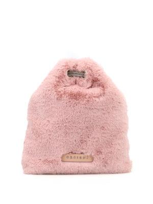 ORCIANI: borse a tracolla - Borsa a tracolla in eco pelliccia rosa