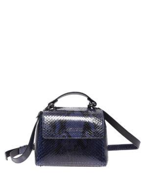 ORCIANI  borse a tracolla - Borsa Sveva Mini in pitone blu 364fd18216267