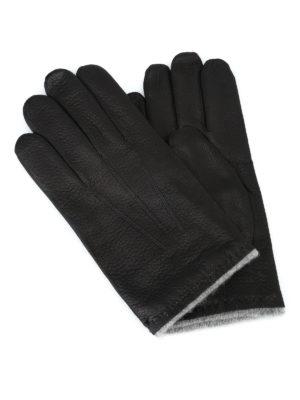 ORCIANI: guanti - Guanti Nappa Wrinkled neri