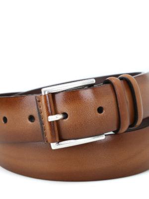 ORCIANI: cinture online - Cintura Buffer in pelle color cuoio