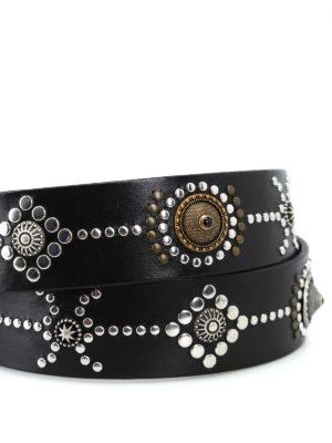 ORCIANI: cinture online - Cintura Bull in pelle con borchiette