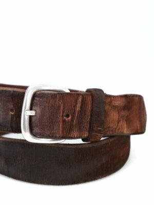 ORCIANI: cinture online - Cintura Cutting testa di moro in pelle