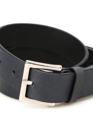 ORCIANI: cinture online - Cintura in pelle saffiano blu scuro