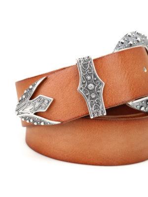 ORCIANI: cinture online - Cintura in pelle con maxi fibbia