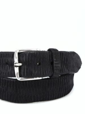 ORCIANI: cinture online - Cintura New Bark in pelle nera
