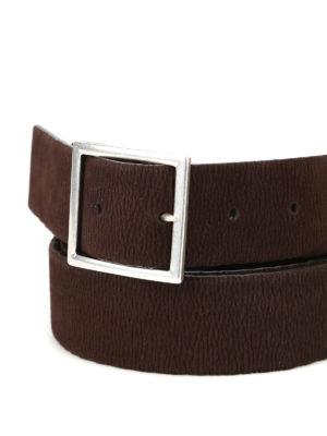 ORCIANI: cinture online - Cintura in nabuk reversibile