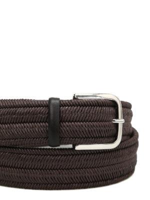 ORCIANI: cinture online - Cintura Elast Rope in lino