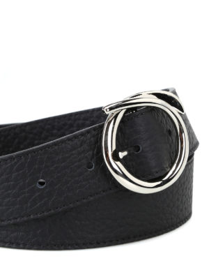 ORCIANI: cinture online - Cintura Soft in pelle martellata nera