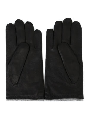 ORCIANI: guanti online - Guanti Nappa Wrinkled neri