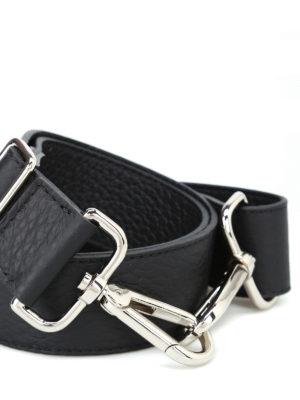 ORCIANI: borse a spalla online - Tracolla Soft in pelle nera
