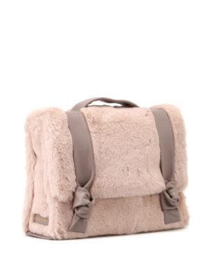 ORCIANI: borse a spalla online - Borsa in Eco Fur e pelle con nodi