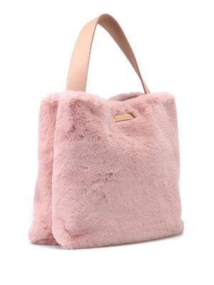 ORCIANI: borse a spalla online - Borsa a spalla in Eco Fur rosa