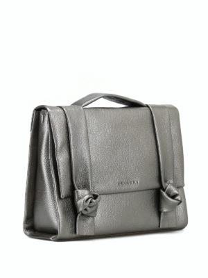 ORCIANI: borse a spalla online - Borsa Micron in pelle metallizzata con nodi