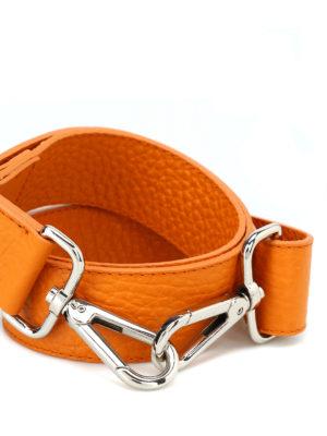 ORCIANI: borse a spalla online - Tracolla Soft in pelle color senape