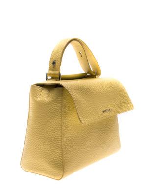 ORCIANI: borse a spalla online - Borsa media Sveva  Soft gialla