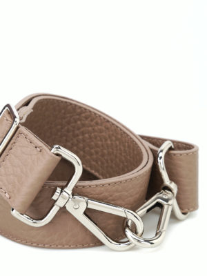 ORCIANI: borse a spalla online - Tracolla Soft in pelle color tortora