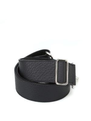 ORCIANI: borse a spalla - Tracolla Soft in pelle nera