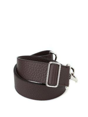 ORCIANI: borse a spalla - Tracolla Soft in pelle testa di moro
