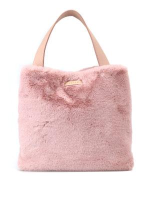 ORCIANI: borse a spalla - Borsa a spalla in Eco Fur rosa