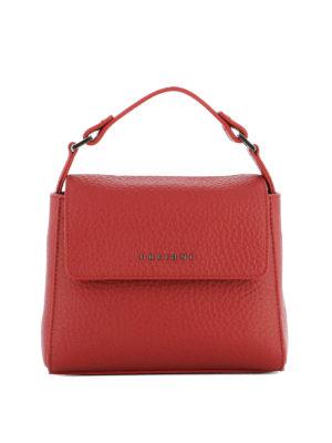 Orciani: shoulder bags - Hammered leather red shoulder bag
