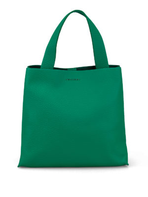 ORCIANI: borse a spalla - Borsa a spalla Jackie in pelle verde