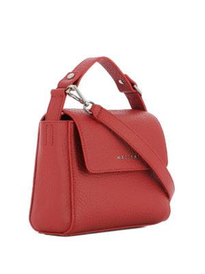 Orciani: shoulder bags online - Hammered leather red shoulder bag