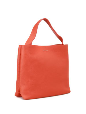 Orciani: shoulder bags online - Soft arancio leather shoulder bag
