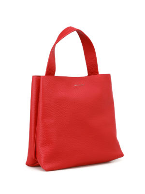 Orciani: shoulder bags online - Soft red leather shoulder bag