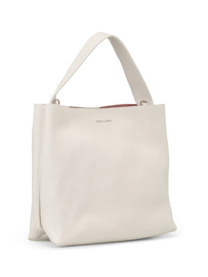 Orciani: shoulder bags online - Soft white leather shoulder bag