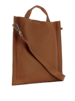 Orciani: shoulder bags online - Soul brown leather squared bag