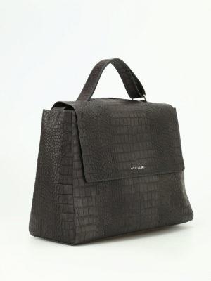 Orciani: shoulder bags online - Sveva croco print leather bag