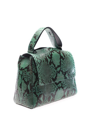 Orciani: shoulder bags online - Sveva M Diamond green bag