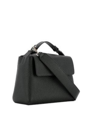 Orciani: shoulder bags online - Sveva Soft black leather bag