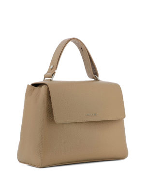 Orciani: shoulder bags online - Sveva Soft M cappuccino leather bag
